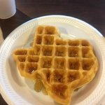 Texas shaped waffles!