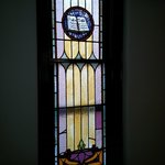 Original stained glass in one bedroom