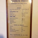 old price list