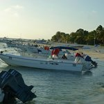 """Expedition"" boats, Gran Roques, Los Roques, Venezuela"