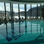 View from the pool at The Spa