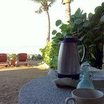 coffee served in your room on your own private beach area