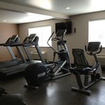 Our fitness center includes 4 cardio machines and 1 weight station
