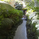 path to restaurant from one of the courtyards