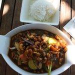 Chow Mein aux queues de langoustes