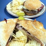 Buffalo Burger and Club Sandwich