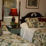 Two queen beds furnish the beautiful Appalachian Room. Perfect for a girl friends getaway!