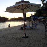 The beach in front of Bora Bora Beach Bar
