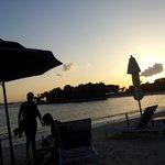 Lovely sunset at Bora Bora Beach Bar