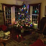 The family room at Christmas