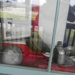 Front window with canteen and other pack items