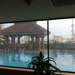 from gym: view on swimming pool