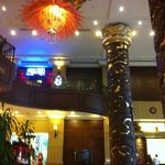 Hotel entry area : a bit like a temple, traditional, nice