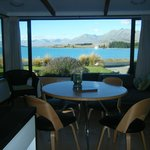 View from inside The Cottage of Lake Tekapo