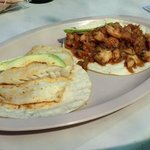 Fish and shrimp tacos.