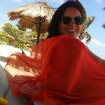 disfrutando la playa de Luna de Plata