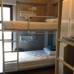 Dorm room.  Bunk beds
