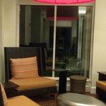 Zen seating! Modern lobby