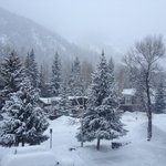 View from balcony - powder day!
