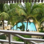 The pool from balcony of Room 11