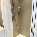 Fun shower, good water pressure and hot water