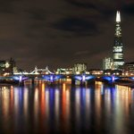 London at night from Westminster Bridge