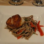 Sea scallop with soba noodles