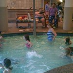 indoor portion of the smallish pool - kind of crowded