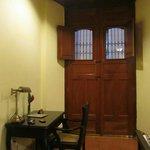 Room 103? Door (locked) to the side street