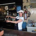 La Fuerentes cantina. Cathy serving.