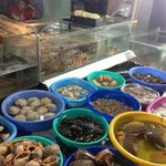 the fresh seafood on offer