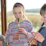 Playing the tin whistle