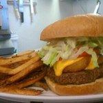 pirate burger and fries. Mmmmm