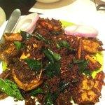 malabar dry pepper prawns