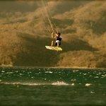 Kitesurfing jump