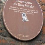 Cartiglio Torresotto S.Vitale -Bologna