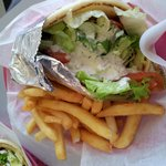 The gyro combo at Jack's Corner