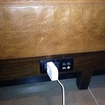 outlets under the seating in the Libby really came in handy