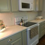 Kitchen is ready for weekend and extended stay guests