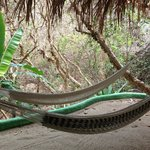 Hammocks on balcony 'guest house'