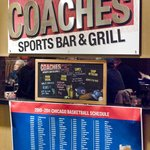 Coaches Bar & Grill is perfect to stop by before going to Midway Airport