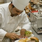 Freshly prepared food is made while you relax and enjoy the big game