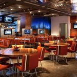 High Velocity offers both superior sports viewing and substantial American Bar food.