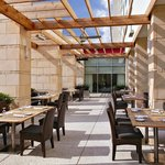 The outdoor patio is perfect place to relax and enjoy some fresh air.