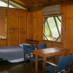 Inside cabin-1st single bed and dinner table