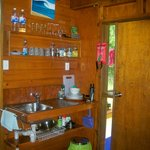 Inside cabin-kitchen