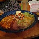 Burrito and enchilada combo meal