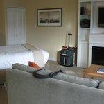 The sleeping/living room area