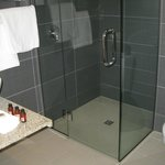 Clean, modern bathroom