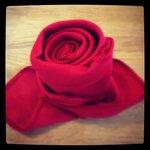 Red Rose napkin fold
